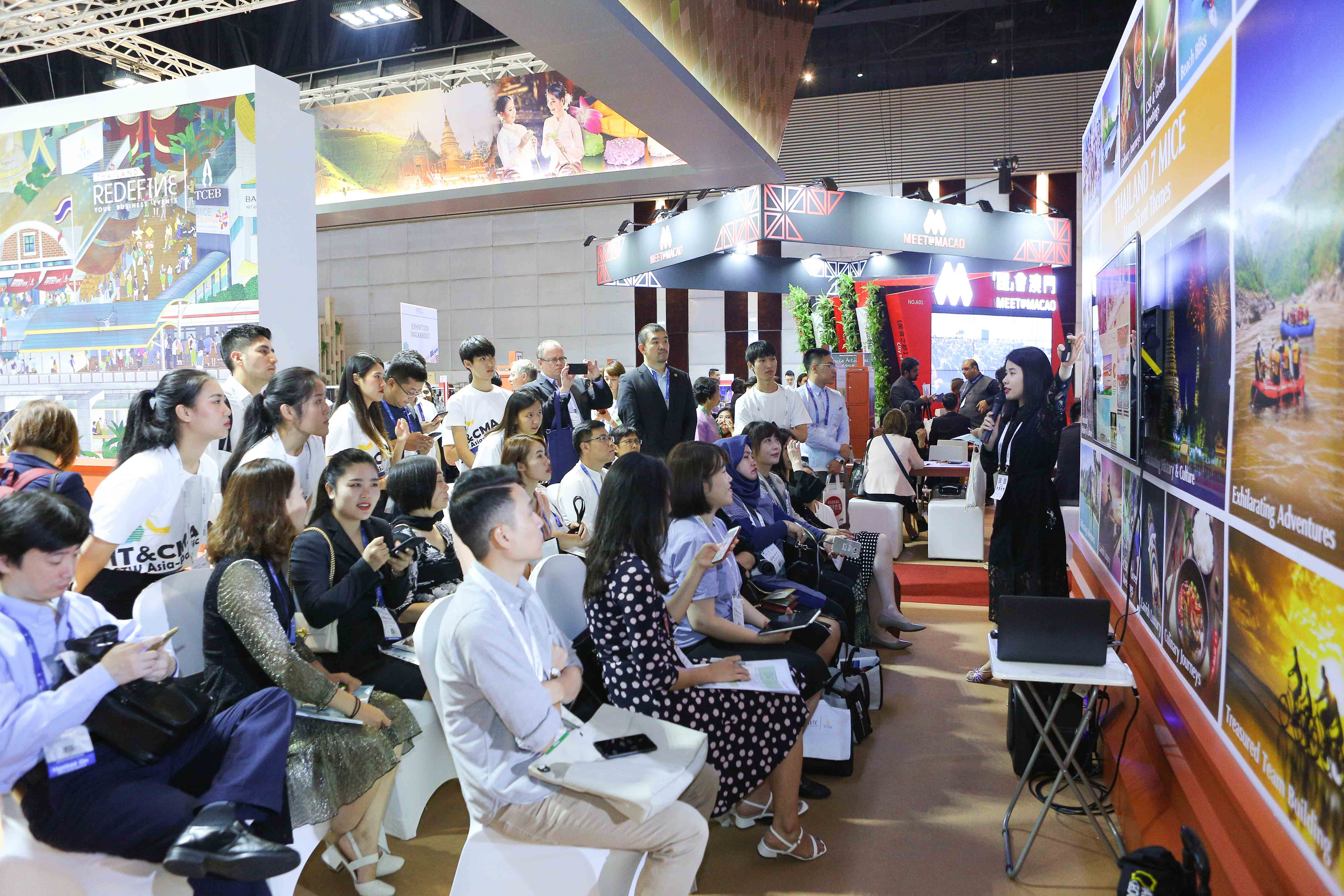 Presentation at the Thailand Convention and Exhibition Bureau (TCEB) booth at IT&CM Asia and CTW Asia-Pacific 2019